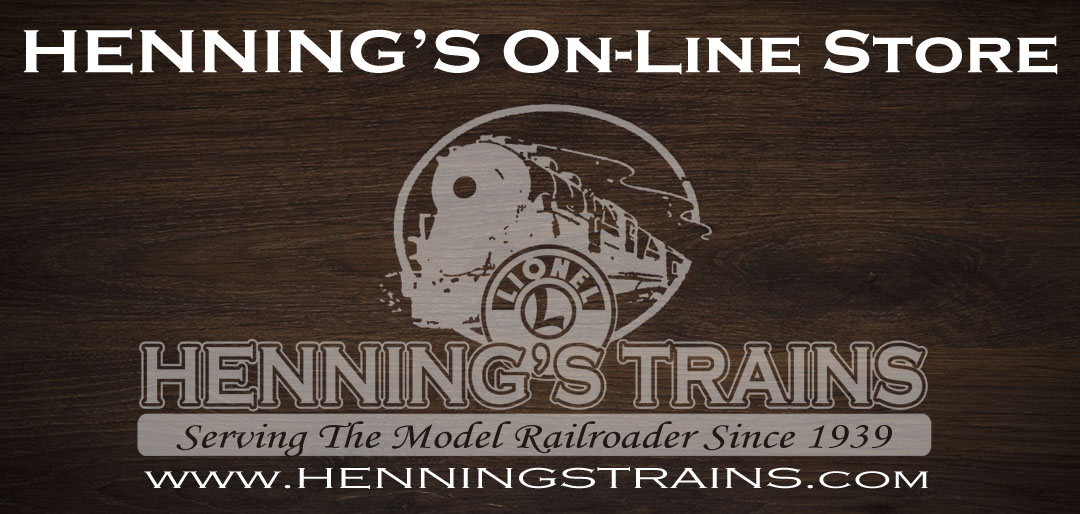 Henning's Trains On-Line Store